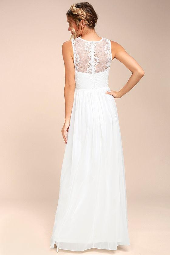 Destined to Dream White Lace Maxi Dress 3