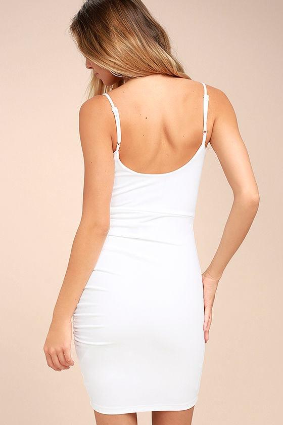 Au Courant White Bodycon Dress 3