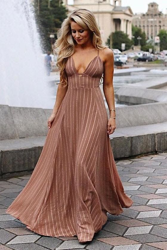 Elevate Light Brown Embroidered Maxi Dress 5