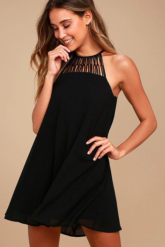 Tell Me Black Swing Dress 1