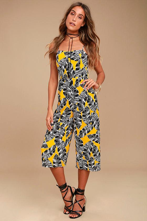 5c8b73fbeedf Olive + Oak Charlotte Jumpsuit - Yellow Print Jumpsuit