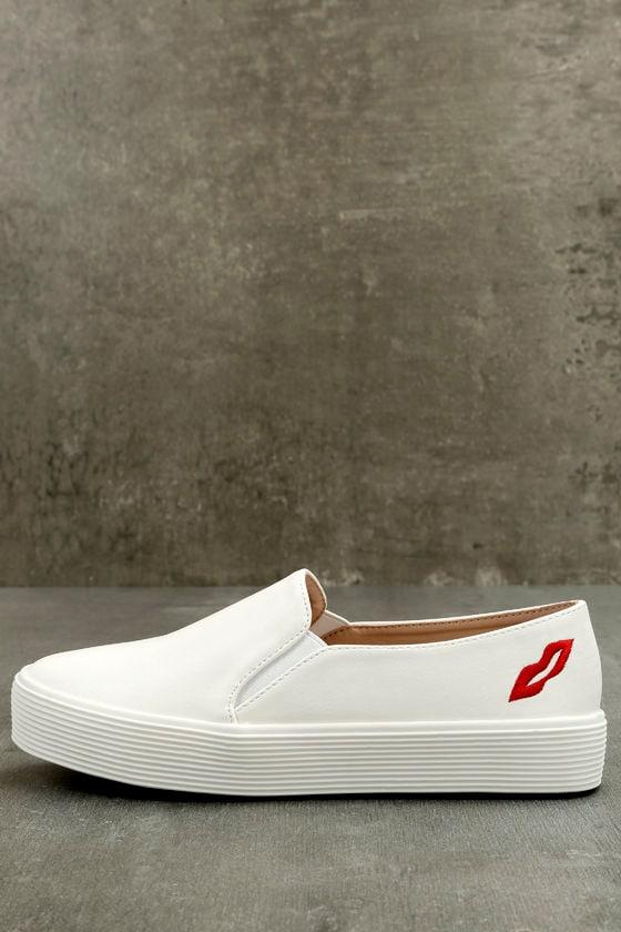 Etta White Slip-On Sneakers 1