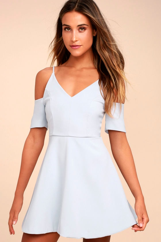 Ever So Enticing Grey Skater Dress