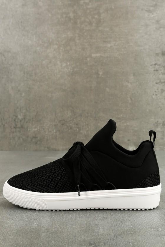 78a2cebafa58a Steve Madden Lancer - Street Style Sneaker - Black Sneakers - Trendy ...