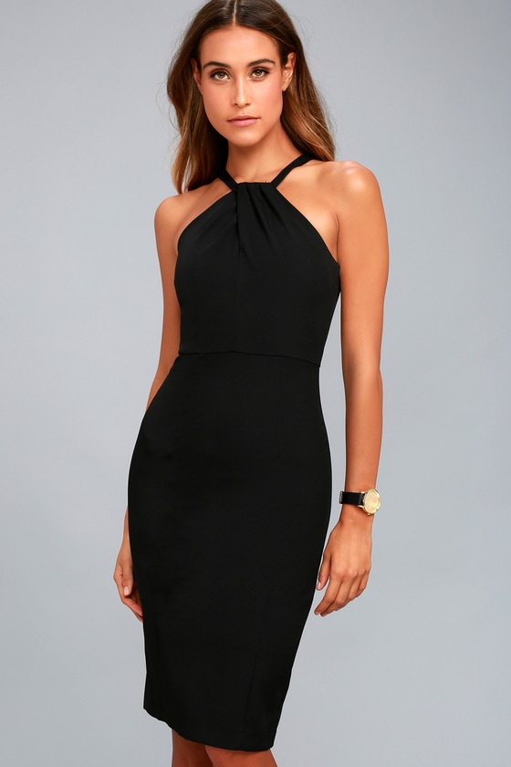 Be My Baby Black Bodycon Midi Dress 2