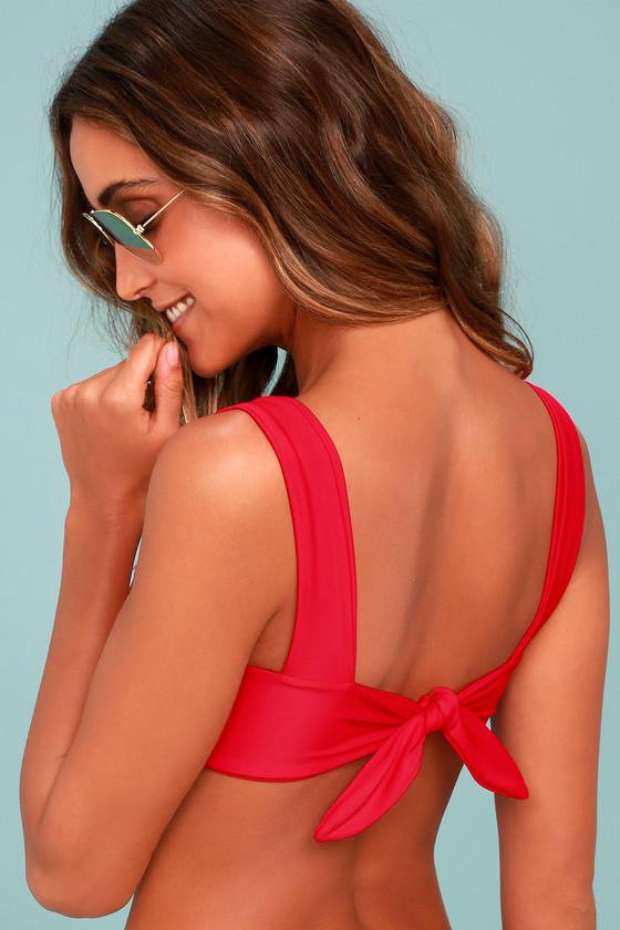 cd61909f4a KAOHS Swim Hampton - Red Bikini Top - Tying Bikini Top - $98.00