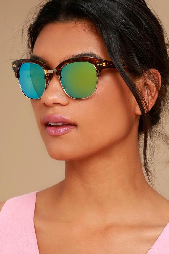 Perverse Barrett Tortoise and Blue Mirrored Sunglasses 3