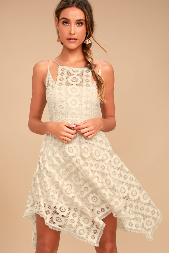 Free People Just Like Honey Beige Lace Dress 2