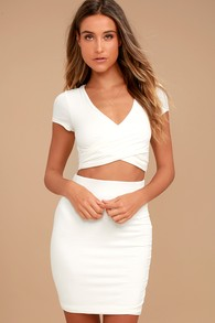 By Your Side Ivory Two-Piece Dress 73683c178d37