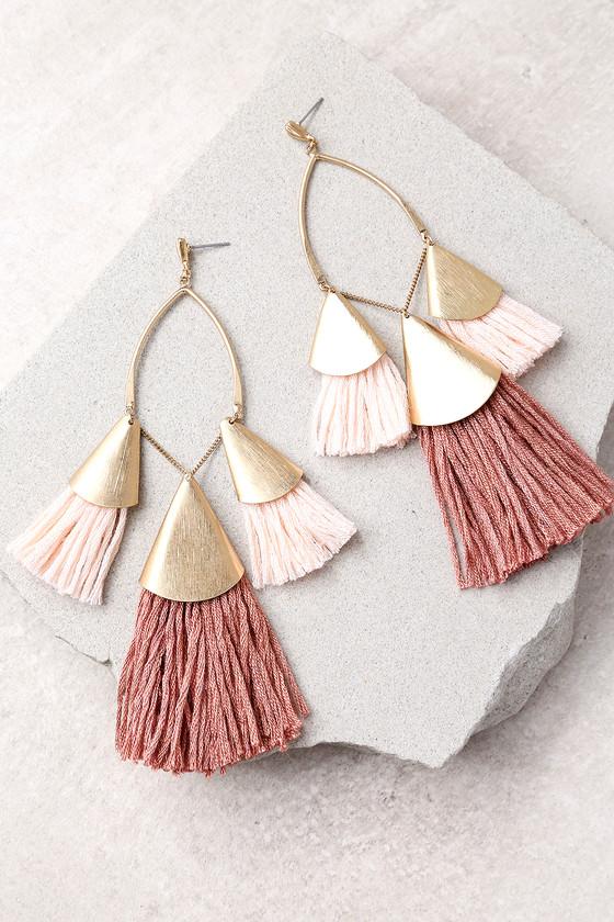 Ettika Destiny Around You Gold and Terra Cotta Earrings 1