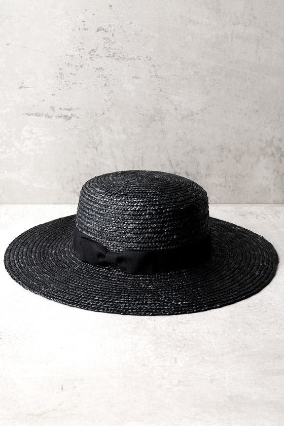 St. Tropez Black Straw Hat