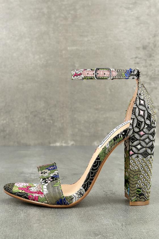 69ef4d6c196 Steve Madden Carrson - Cute Bright Multi Heels - Floral Heels ...