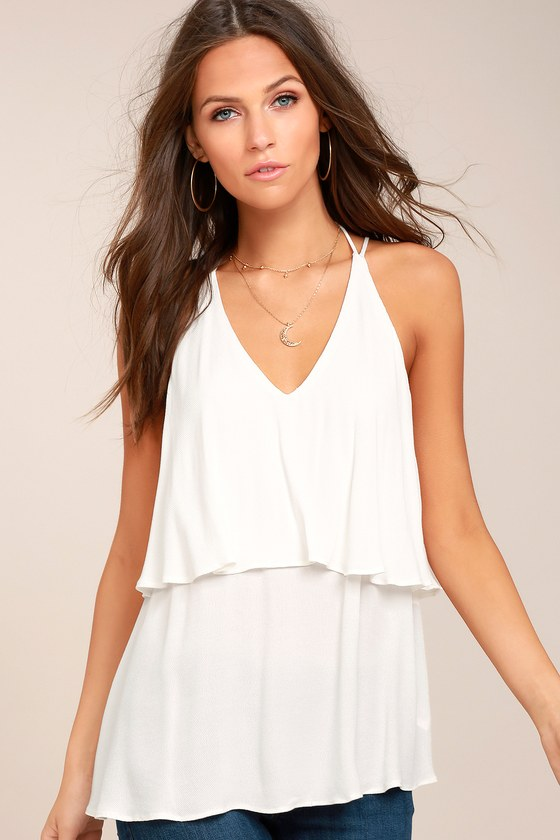 Everything You Want White Tank Top 1