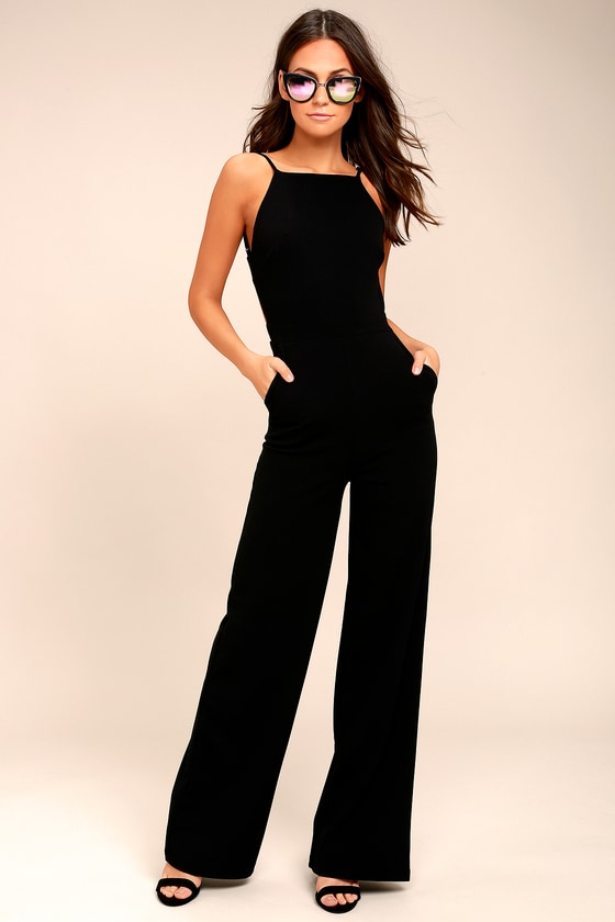Something to Behold Black Jumpsuit 1