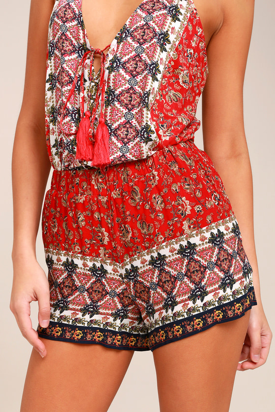 PPLA Issey Red Print Shorts 4