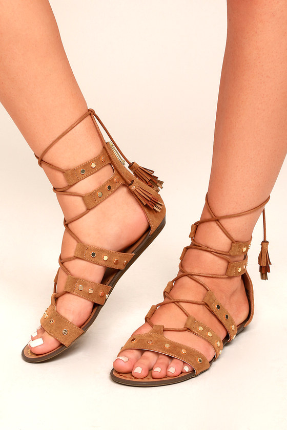 Report Laurel Tan Suede Gladiator Sandals 4