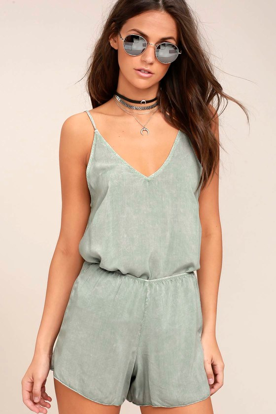 Project Social T Tropez Washed Sage Green Two-Piece Set 5