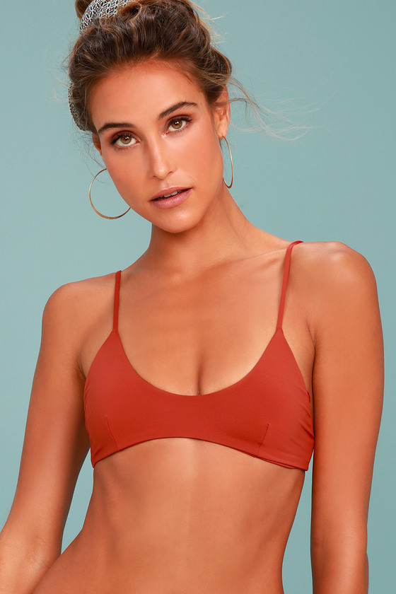 Tavik Nahla Rust Red Bikini Top 2