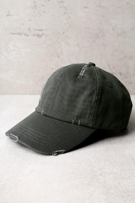 85fdced9930 Trendy Dark Grey Baseball Cap - Cotton Baseball Cap - Distressed ...