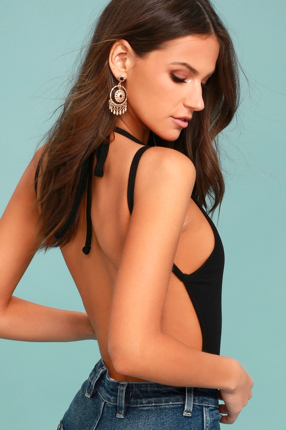 Revival Black Backless Bodysuit 2