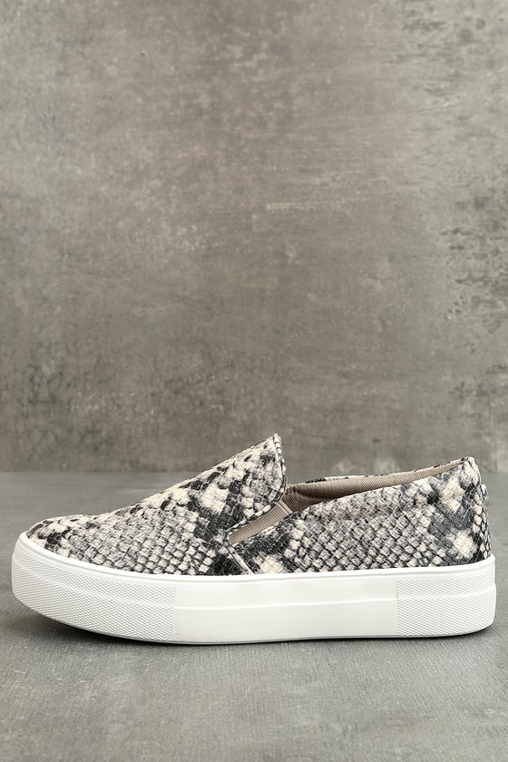 3f26d4c9d95 Steve Madden Gills Sneakers - Snake Print Sneakers - Flatform Sneakers