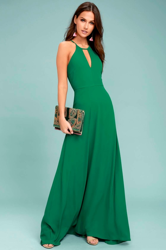 Beauty and Grace Green Maxi Dress 1