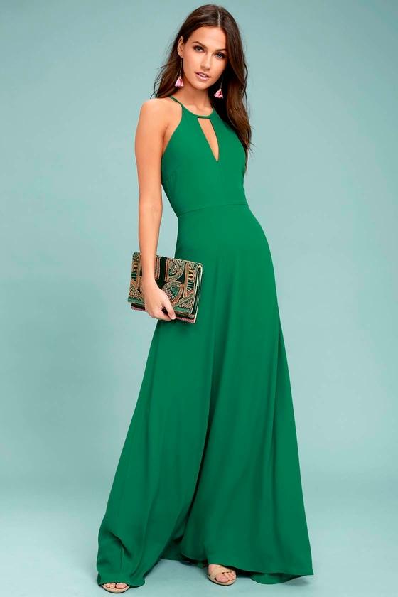 Beauty and Grace Green Maxi Dress 1