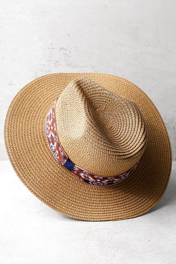 Hip Hillside Tan Floppy Straw Fedora Hat