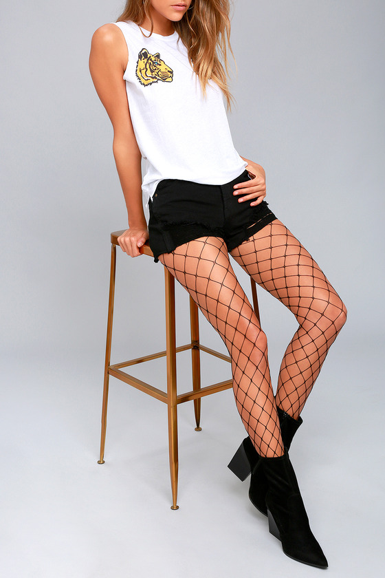 Network It Black Fishnet Tights