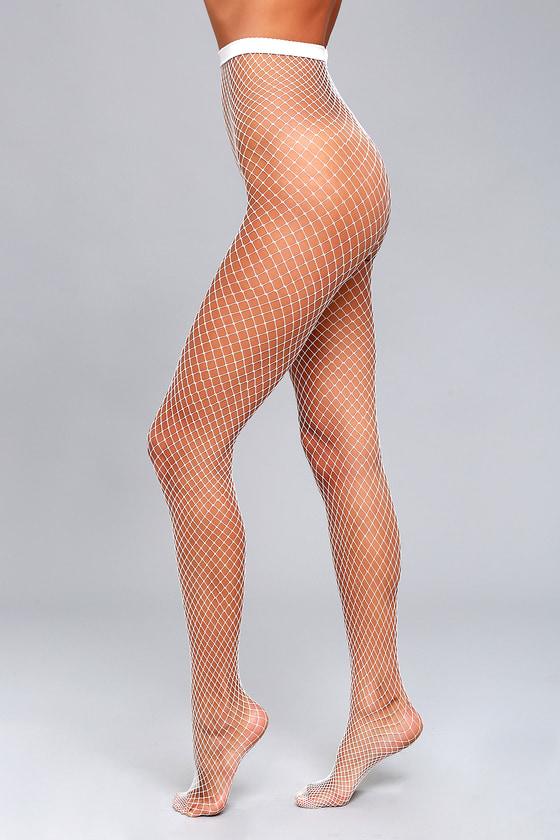 73cb44f7f4ea3 Sexy White Fishnet Tights - White Tights - White Fishnets - Trendy ...