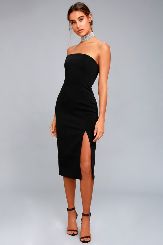 finders keepers lucie dress black dress strapless