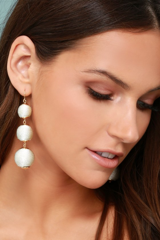 Dawn Days White Earrings 2