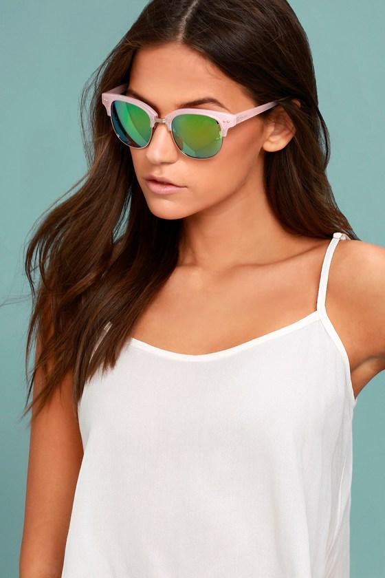 Perverse Barrett - Pink Mirrored Sunglasses - Lulus