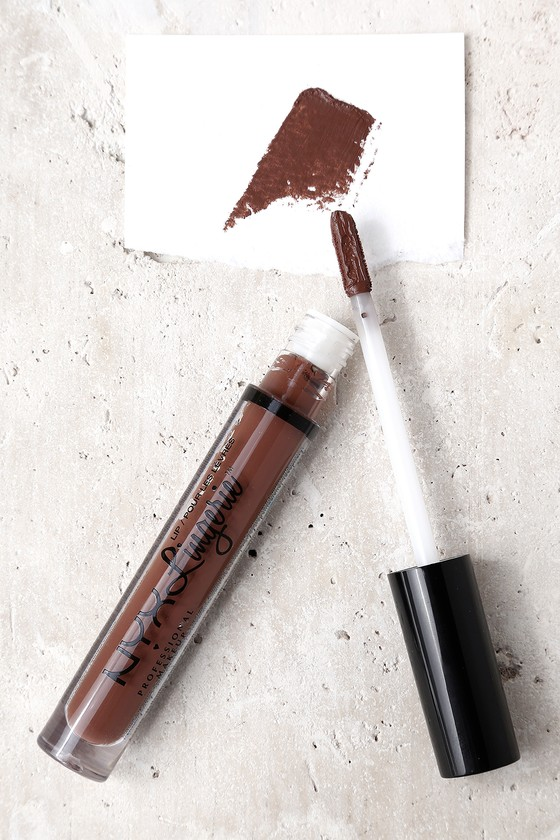 NYX Beauty Mark Brown Lip Lingerie Liquid Lipstick 2