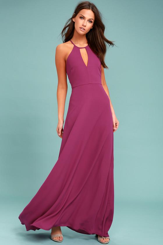 Lovely Magenta Dress - Maxi Dress - Magenta Gown - Formal Dress