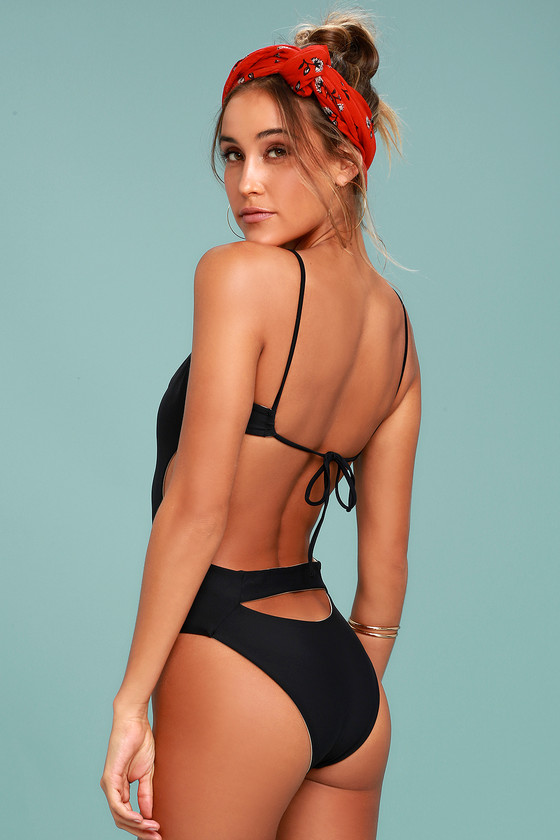 KOA Swim Golden Black Reversible One Piece Swimsuit