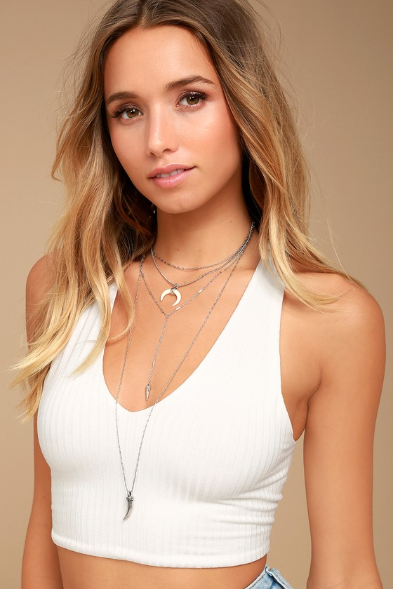 Walk This Way Silver Layered Necklace 3