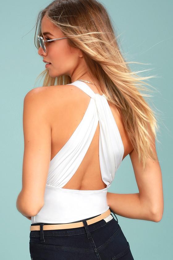 Hot-Cha-Cha White Bodysuit 2