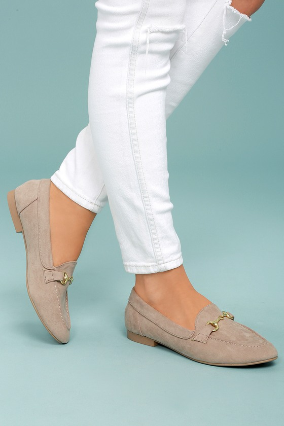 Molly Lynn Taupe Suede Loafers 4