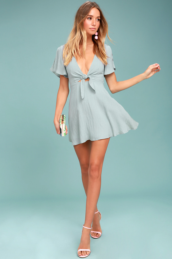 Teal Blue Short Dress