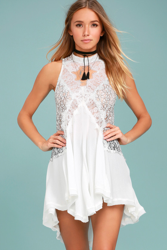 bfc61561 Free People Tell Tale Heart - White Tunic - Lace Tunic - LWD