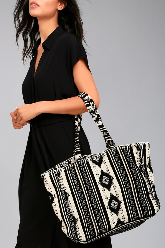 Amuse Society Nash Black Print Tote Bag 1