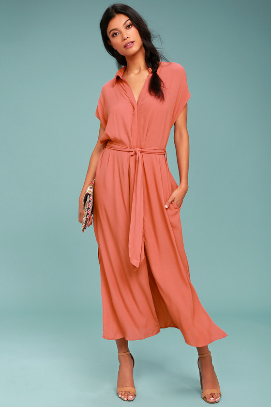 Destination Chic Terra Cotta Midi Dress 1