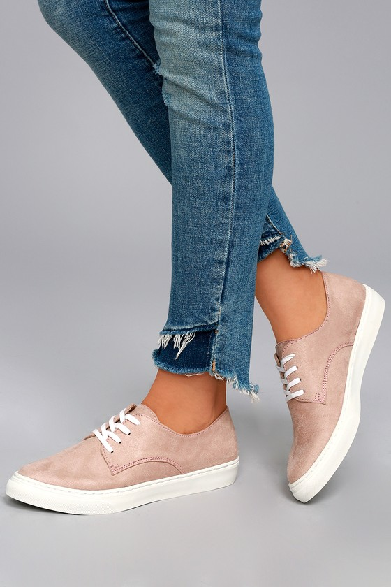 Missy Dusty Mauve Suede Sneakers 4