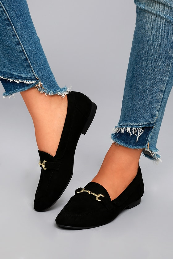 Molly Lynn Black Suede Loafers 4