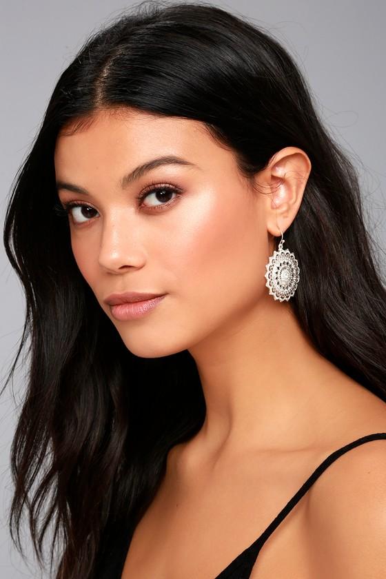 Mandala Bay Silver Earrings 2