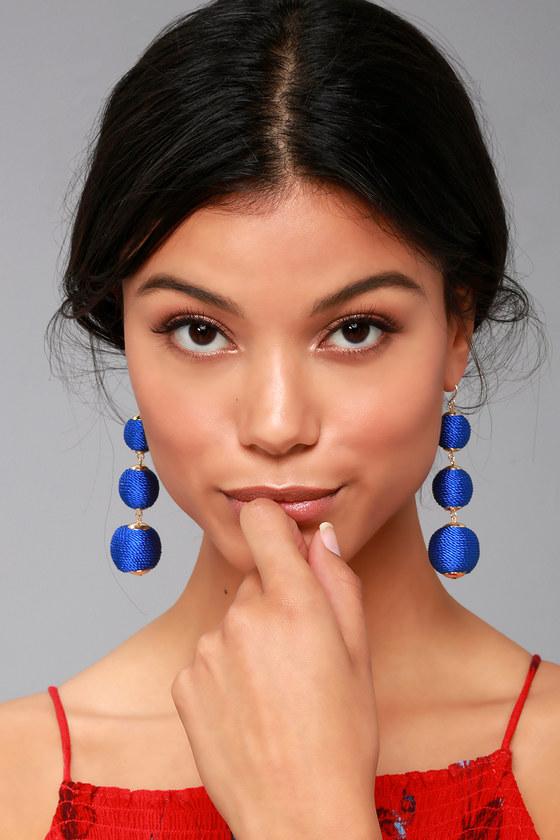 Dawn Days Royal Blue Earrings 2