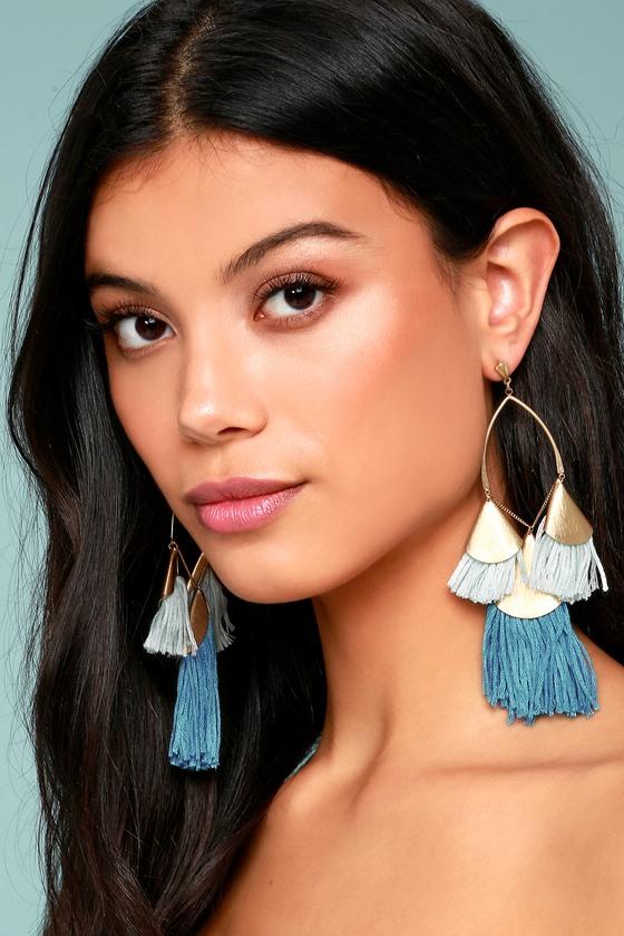 Ettika Destiny Around You Gold and Turquoise Earrings 2