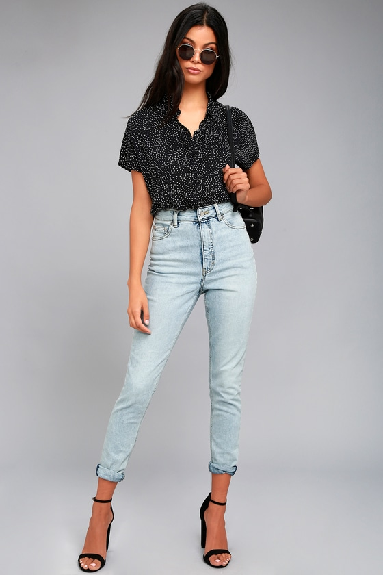 best selection of 2019 on feet at top design Cheap Monday Donna Light Wash High-Waisted Jeans
