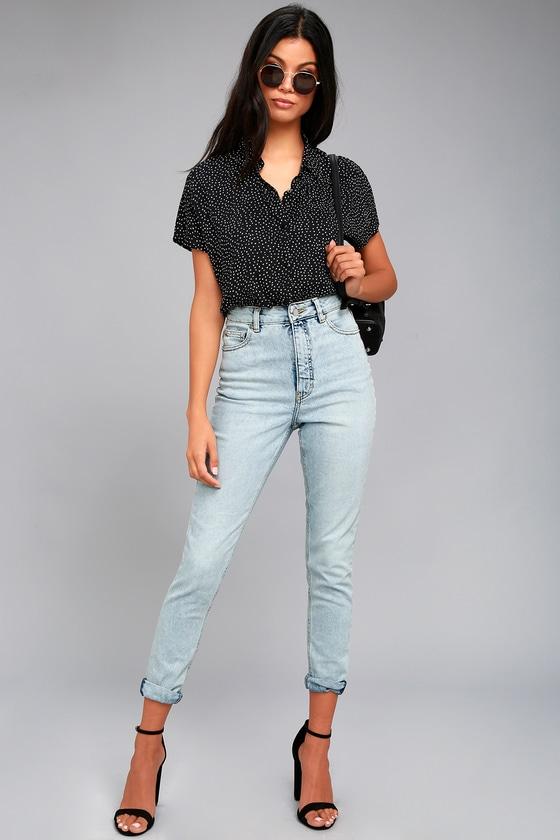 Cheap Monday Donna Light Wash High-Waisted Jeans 1